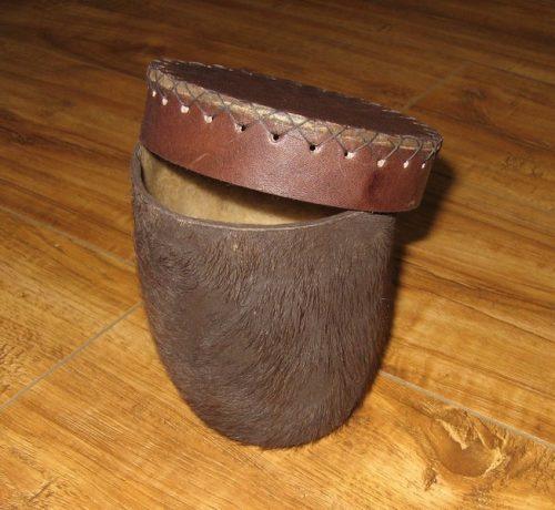 Buffalo Scrotum Dice Shaker