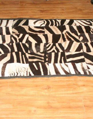 Zebra Patchwork Rug