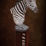 Zebra Natural Pedestal